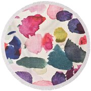 Paint Stains Round Beach Towel