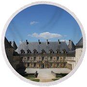 Palace Bussy Rabutin - Burgundy Round Beach Towel