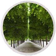 Palais Royal Trees Round Beach Towel