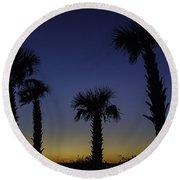Palmetto Sunset Round Beach Towel