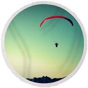 Paraglider Round Beach Towel