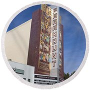Paramount Theatre Oakland California Round Beach Towel