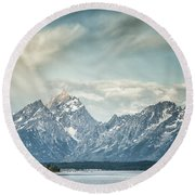 Partly Cloudy Round Beach Towel