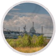 Patriots Point Maritime Round Beach Towel