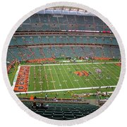 Paul Brown Stadium Round Beach Towel by Dan Sproul