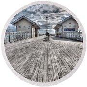 Penarth Pier 3 Round Beach Towel