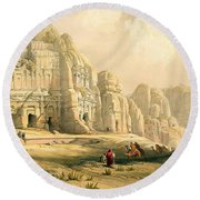 Petra Round Beach Towel by David Roberts