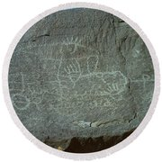 Petroglyph Rock Round Beach Towel