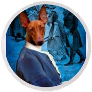 Pharaoh Hound Art Canvas Print Round Beach Towel