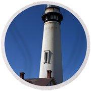 Pigeon Point Lighthouse Pescadero California Round Beach Towel