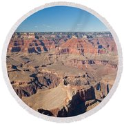 Pima Point Grand Canyon National Park Round Beach Towel