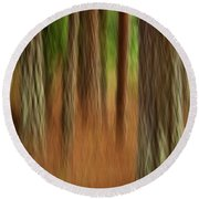 Pine Trees Round Beach Towel