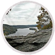 Pinnacle Overlook  Round Beach Towel