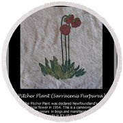 Pitcher Plant Round Beach Towel