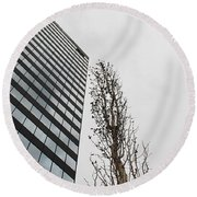 Plastic Trees Round Beach Towel