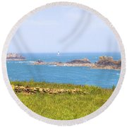 Pointe Du Grouin - Brittany Round Beach Towel