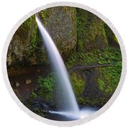 Ponytail Falls - Columbia River Gorge - Oregon Round Beach Towel