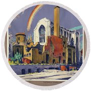 Poster London, 1944 Round Beach Towel