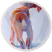 Precocious Round Beach Towel by Kimberly Santini