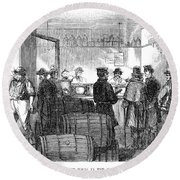 Presidential Election, 1864 Round Beach Towel