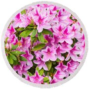 Pretty In Pink - Spring Flowers In Bloom. Round Beach Towel