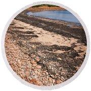 Prince Edward Island Coastline Round Beach Towel