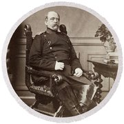 Prince Otto Von Bismarck (1815-1898) Round Beach Towel