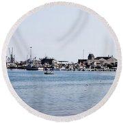 Provincetown Harbor Round Beach Towel