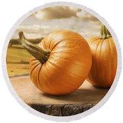 Pumpkins Round Beach Towel
