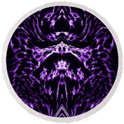 Purple Series 1 Round Beach Towel