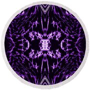 Purple Series 2 Round Beach Towel