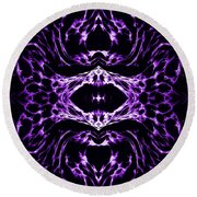 Purple Series 3 Round Beach Towel
