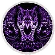 Purple Series 4 Round Beach Towel
