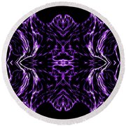 Purple Series 7 Round Beach Towel