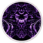 Purple Series 8 Round Beach Towel
