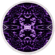 Purple Series 9 Round Beach Towel