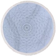 Quantum Foam Round Beach Towel