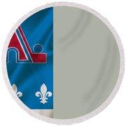 Quebec Nordiques Round Beach Towel