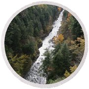 Quechee Gorge Round Beach Towel