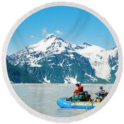 Rafters On The Alsek River Round Beach Towel