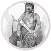 Red Eagle, William Weatherford, Creek Round Beach Towel
