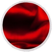 Red Folded Satin Background Round Beach Towel
