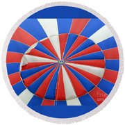 Red White And Balloon  Round Beach Towel