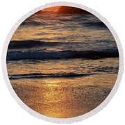 Reflections Of Sunset Round Beach Towel