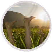 Relaxing Moment Round Beach Towel