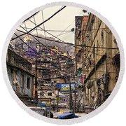 Rio De Janeiro Brazil - Favela Round Beach Towel