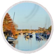 River Frome At Wareham Round Beach Towel