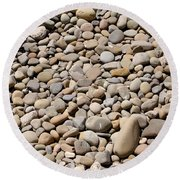 River Rocks Pebbles Round Beach Towel