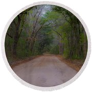 Headed To The Angel Oak Round Beach Towel