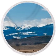 Rocky Mountains Road Round Beach Towel